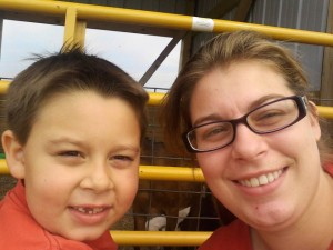 My wonderful daughter and her oldest son Kaden having some Mommy/Son time at Sassy Cow!