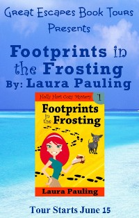 footprints in the frosting small banner