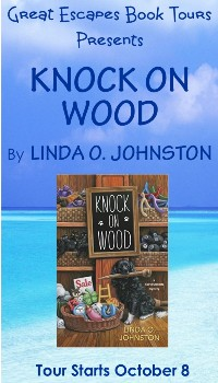 KNOCK ON WOOD SMALL BANNER
