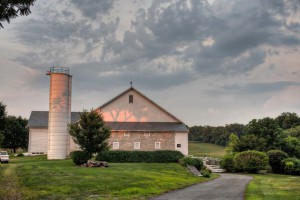 The old bank barn on our farm, the interior of which provides the setting for several key scenes in the book.