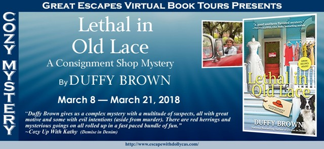 Lethal in Old Lace by Duffy Brown – Spotlight and Giveaway