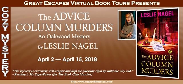 BLOG TOUR - The Advice Column Murders - Shannon Muir's The