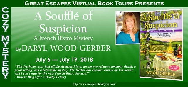 Blog Tour & Giveaway: A Souffle of Suspicion by Daryl Wood Gerber
