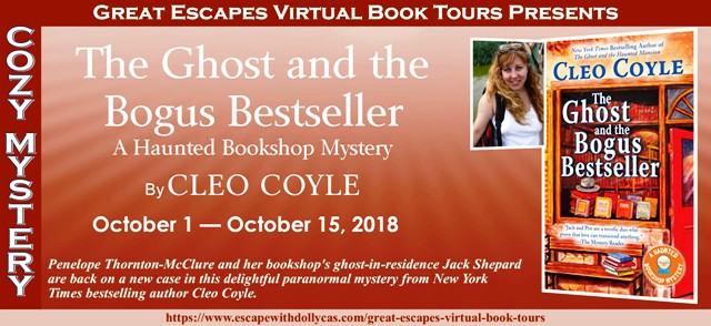 Blog Tour & Giveaway: The Ghost and the Bogus Bestseller by Cleo Coyle