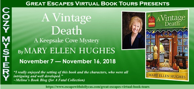 Blog Tour & Giveaway: A Vintage Death by Mary Ellen Hughes