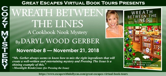 Blog Tour & Giveaway: Wreath Between The Lines by Daryl Wood Gerber