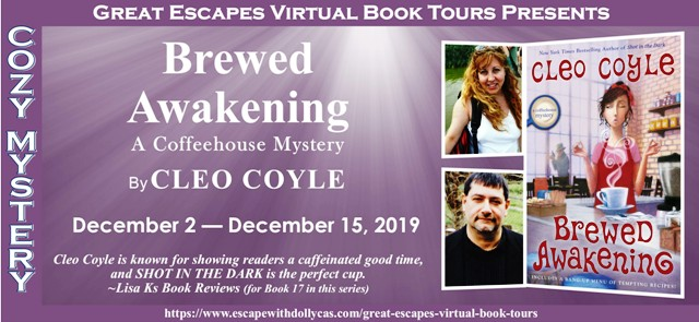 Blog Tour & Giveaway: Brewed Awakening by Cleo Coyle