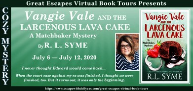 VANGIE VALE AND THE LARCENOUS LAVA CAKE BANNER 184
