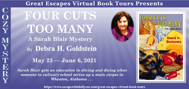 Blog Tour & Review: Four Cuts Too Many by Debra H. Goldstein